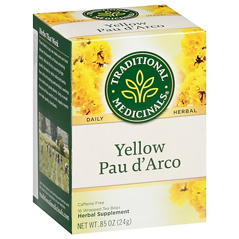 Traditional Medicinals Herbal Tea Organic Yellow Pau D Arco 16 Count - 0.85 Oz
