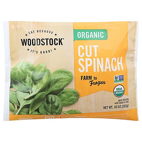 Woodstock Organic Spinach Cut - 10 Oz