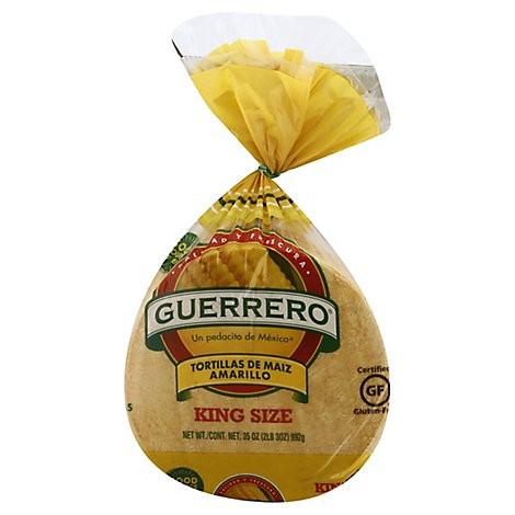 Guerrero Yellow Corn King Size Tortillas - 30 Count
