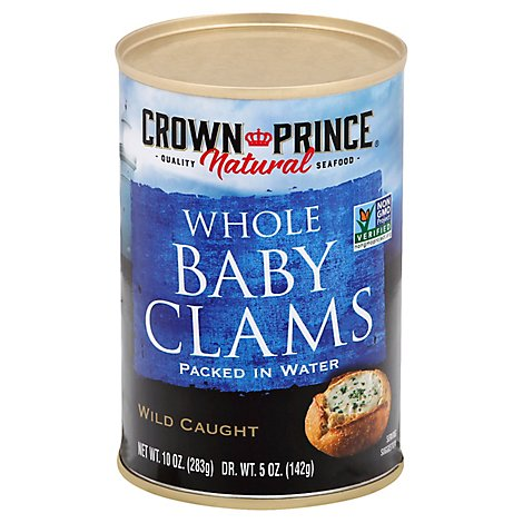 Crown Prince Baby Clams Boiled In Water - 10 Oz