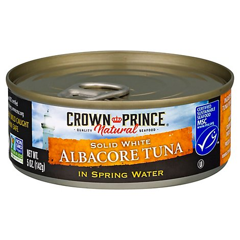 Crown Prince Tuna Albacore Solid White In Spring Water - 5 Oz