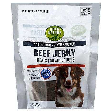 Open Nature Treats For Adult Dogs Beef Jerky - 14 Oz