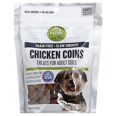 Open Nature Treats For Adult Dogs Chicken Coins - 14 Oz