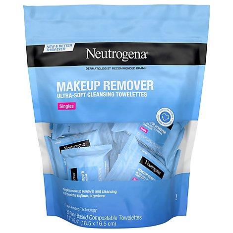 Neutrogena Makeup Remover Cleansing Towelettes Singles - 20 Count