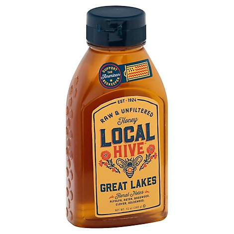 Local Hive 100% Raw & Unfiltered Us Great Lakes Honey - 12 Oz