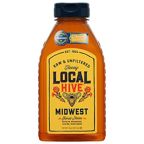 Local Hive Honey Raw & Unfiltered Midwest - 12 Oz