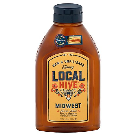 Local Hive Honey Raw & Unfiltered Midwest - 24 Oz