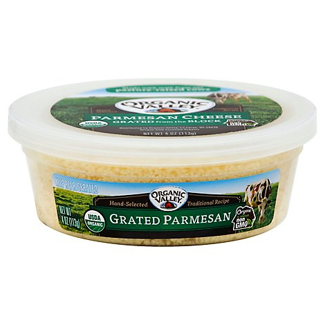 Organic Valley Cheese Grated Parmesan - 4 Oz