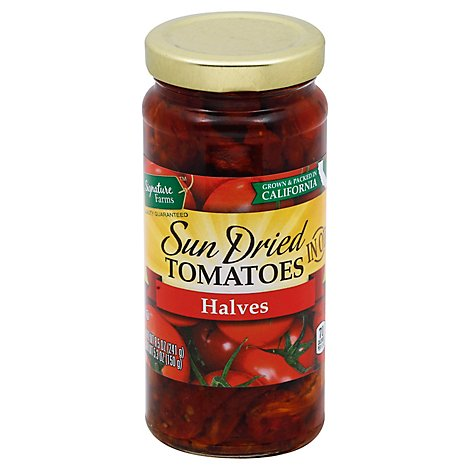 Signature Farms Sundried Tomatoes Halves - 8.5 Oz