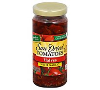 Signature Farms Tomatoes Halves W/Garlic - 8.5 Oz