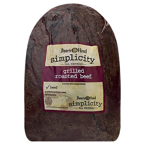 Boars Head Simplicity All Natural Grilled Roast Beef - 0.50 LB