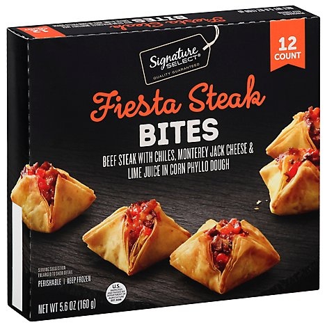 Signature SELECT Bites Fiesta Steak 12 Count - 5.6 Oz
