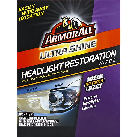 Armor All Headlight Restore Wipes - Each