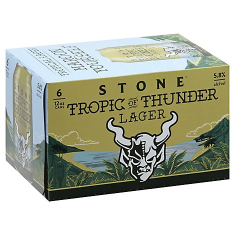 Stone Brewing Tropic Of Thunder Lager In Cans - 6-12 Fl. Oz.