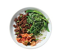 Plated Sesame Beef Bowl With Snap Peas And Spinach - 30 Oz