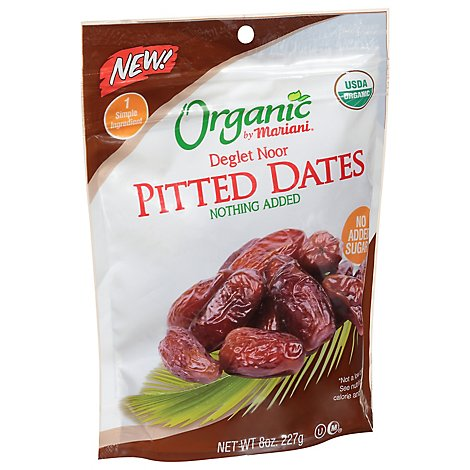 Mariani Organic Dates Pitted Deglet Noor - 8 Oz