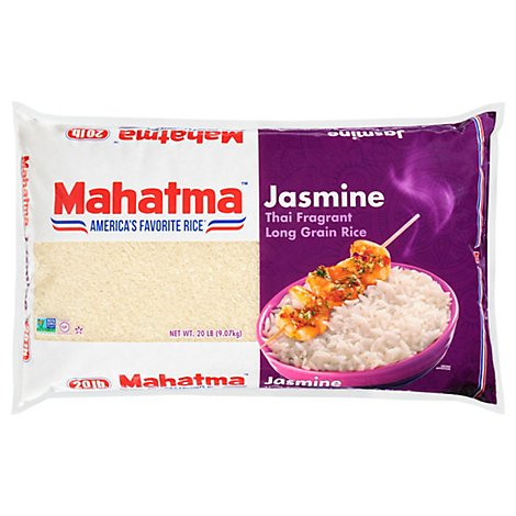 Mahatma Rice Jasmine Enriched Thai Fragrant Long Grain - 20 Lb