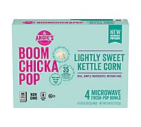 Angies BOOMCHICKAPOP Kettle Corn Microwave Lightly Sweet - 4-3.29 Oz