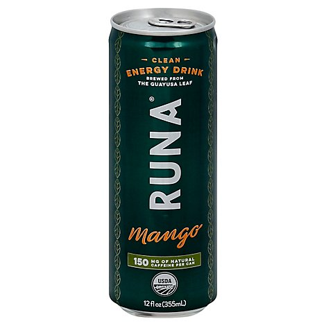 Runa Energy Drink Clean Mango - 12 Fl. Oz.