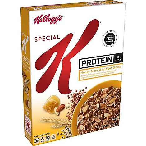 Special K Protein Breakfast Cereal Honey Almond Ancient Grains - 11 Oz