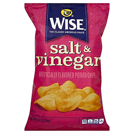 Wise Potato Chips Salt & Vinegar - 8.75 Oz