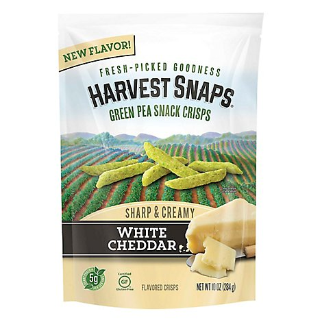 Harvest Snaps Green Pea White Cheddar - 10 Oz