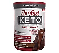 Slimfast Keto Fudge Brownie Batter Meal Replacement Powder - 13.4 Oz