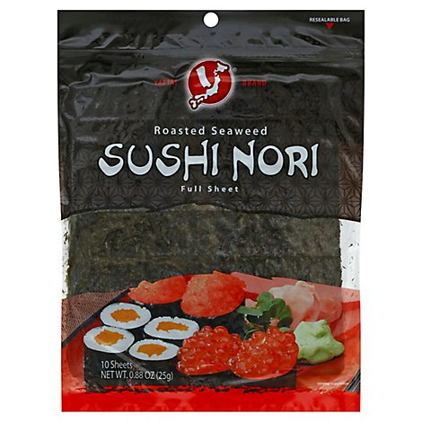Yatta Roasted Seaweed Sushi Nori Full Sheet - .88 Oz