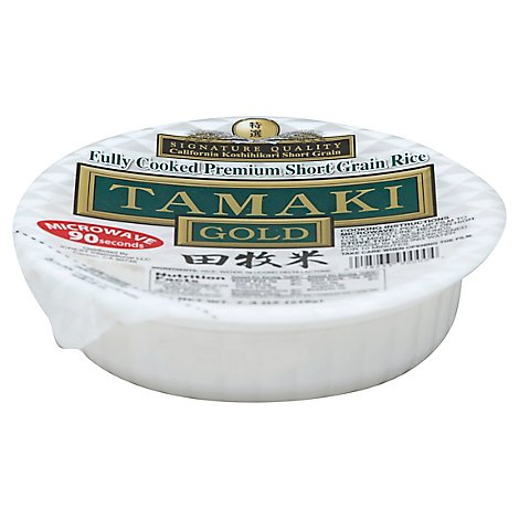 Tamaki Fully Cooked Preminum Short Grain Gold Rice - 7.4 Oz
