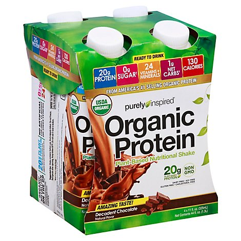 Purely Inspired Ready To Drink Organic Chocolate Protein Shake - 4-6 Fl. Oz.