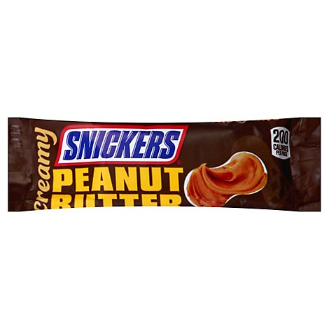 Snickers Creamy Peanut Butter Square Candy Bars Single Size  1.4 Oz
