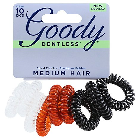 Goody Dentless Elastics Spiral Medium - 10 Count