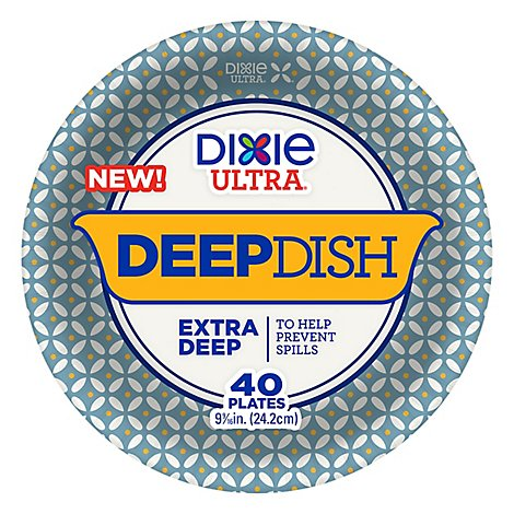 Dixie Ultra Paper Plates Printed Deep Dish 9 9/16 Inch - 18 Count