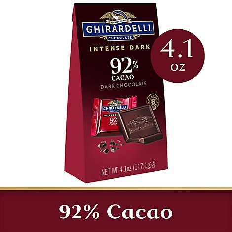 Ghirardelli Intense Dark Chocolate Squares 92% Cacao Moonlight Mystique - 4.1 Oz
