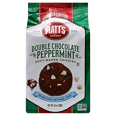 Matts Double Chocolate Peppermint Cookies - 14 Oz