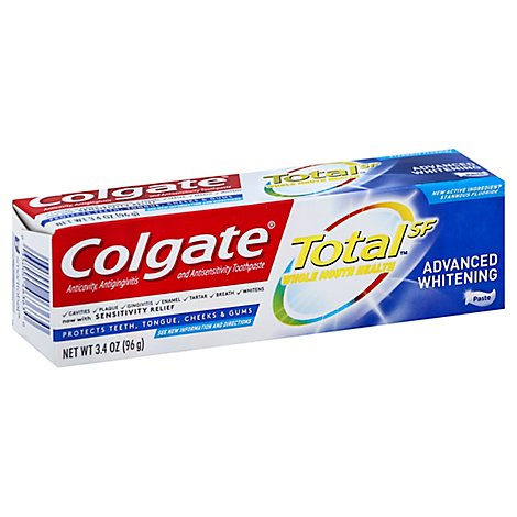 Colgate Total Advanced Whitening Toothpaste - 3.4 Oz
