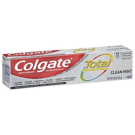 Colgate Total SF Toothpaste Clean Mint - 4.8 Oz