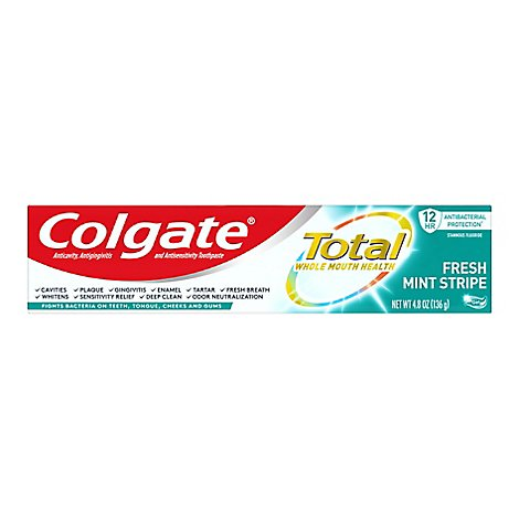 Colgate Total Fresh Stripe Toothpaste - 4.8 Oz