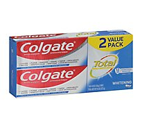 Colgate Toothpaste Total SF Whitening Paste Value Pack - 2-4.8 Oz