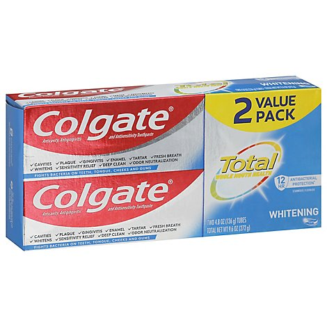 Colgate Total Whitening Gel Twin Pack - 2-4.8 Oz