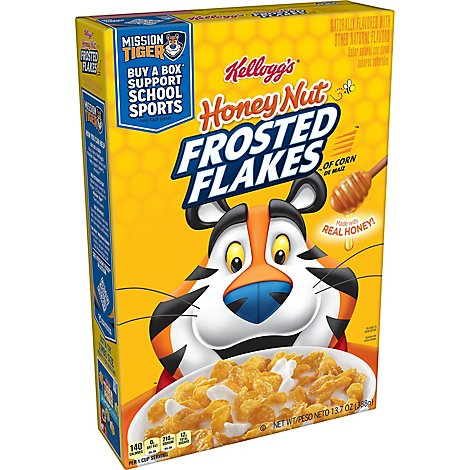 Frosted Flakes Breakfast Cereal Honey Nut - 13.7 Oz