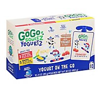 GoGo squeeZ YogurtZ Variety Pack Strawberry Banana - 10 - 3 Oz