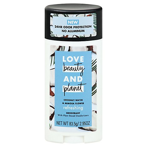Love Beauty and Planet Deodorant Refreshing Coconut Water & Mimosa Flower - 2.95 Oz