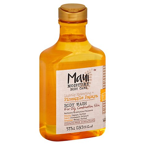 MAUI MOISTURE Body Wash Lightly Hydrating + Pineapple Papaya - 19.5 Fl. Oz.