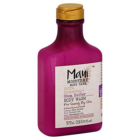 MAUI MOISTURE Body Wash Extra Hydrating + Shea Butter For Severely Dry Skin - 19.5 Fl. Oz.