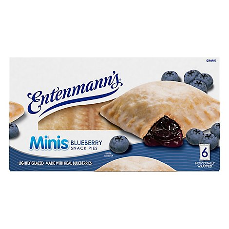 Entenmanns Minis Snack Pies Blueberry 6 Count - 12 Oz