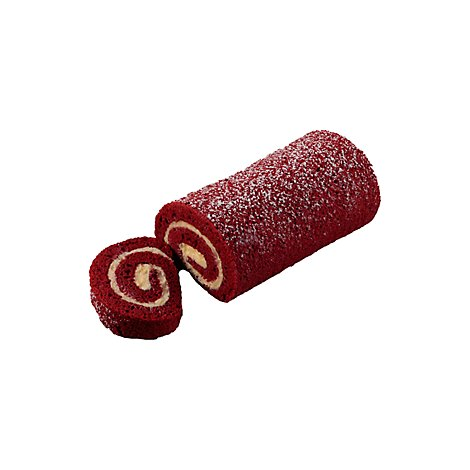 Cake Roll Red Velvet Slice