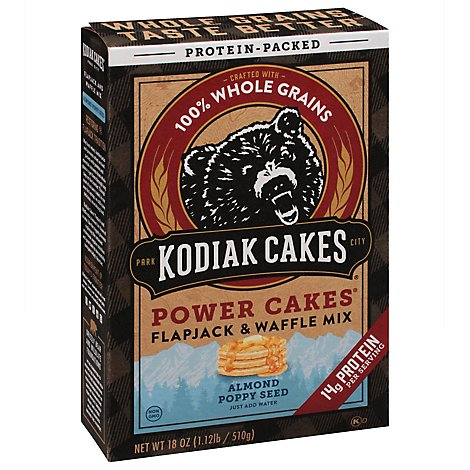 Power Cakes Almond Poppyseed Flapjack & Waffle Mix - 18 Oz