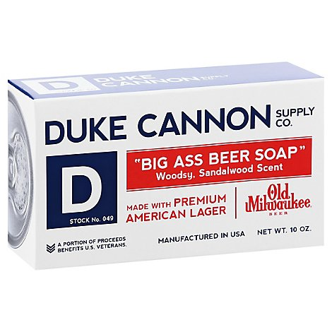 Duke Cannon Big Ass Beer Soap Woodsy Sandalwood Scent - 10 Oz