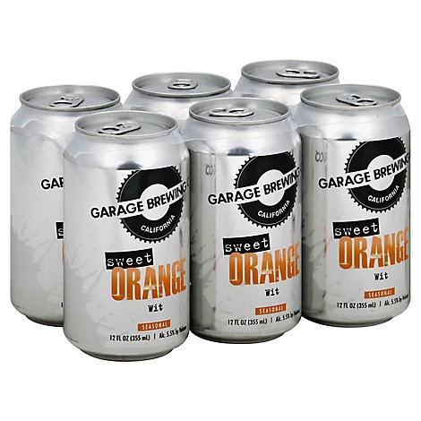 Garage Brewing Sweet Orange Wit In Cans - 6-12 Fl. Oz.